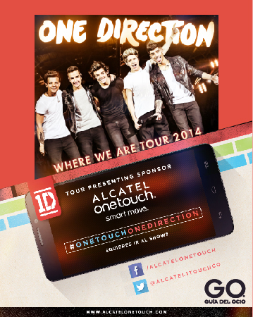 GO y Alcatel OneTouch te llevan a ver a One Direction