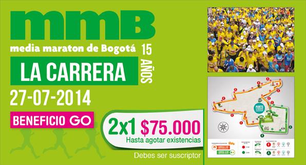 ¡Participa en la media maratón de Bogotá con el 2×1 de GO!