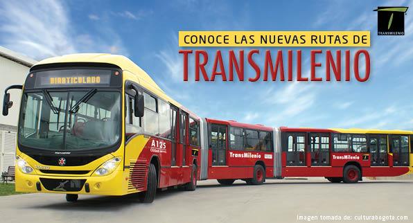 Nuevas rutas de Transmilenio