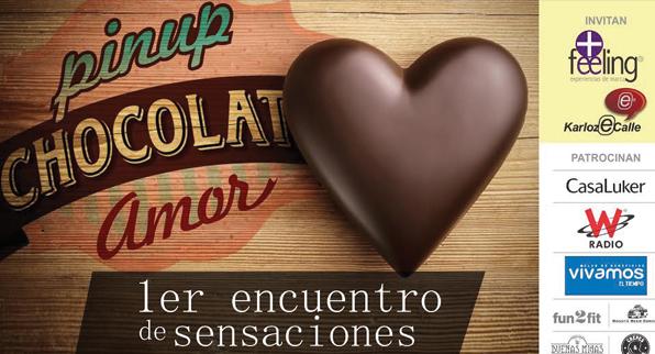 Pinup chocolate amor