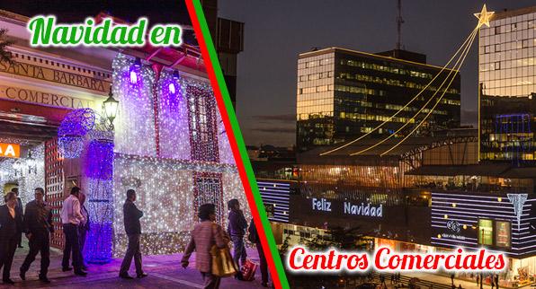 Centros comerciales en Navidad