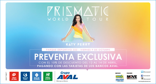 Preventas exclusivas en Abril para Katy Perry
