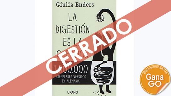 Participa por un ejemplar de La digestión es la cuestión y conoce los secretos del Aparato Digestivo