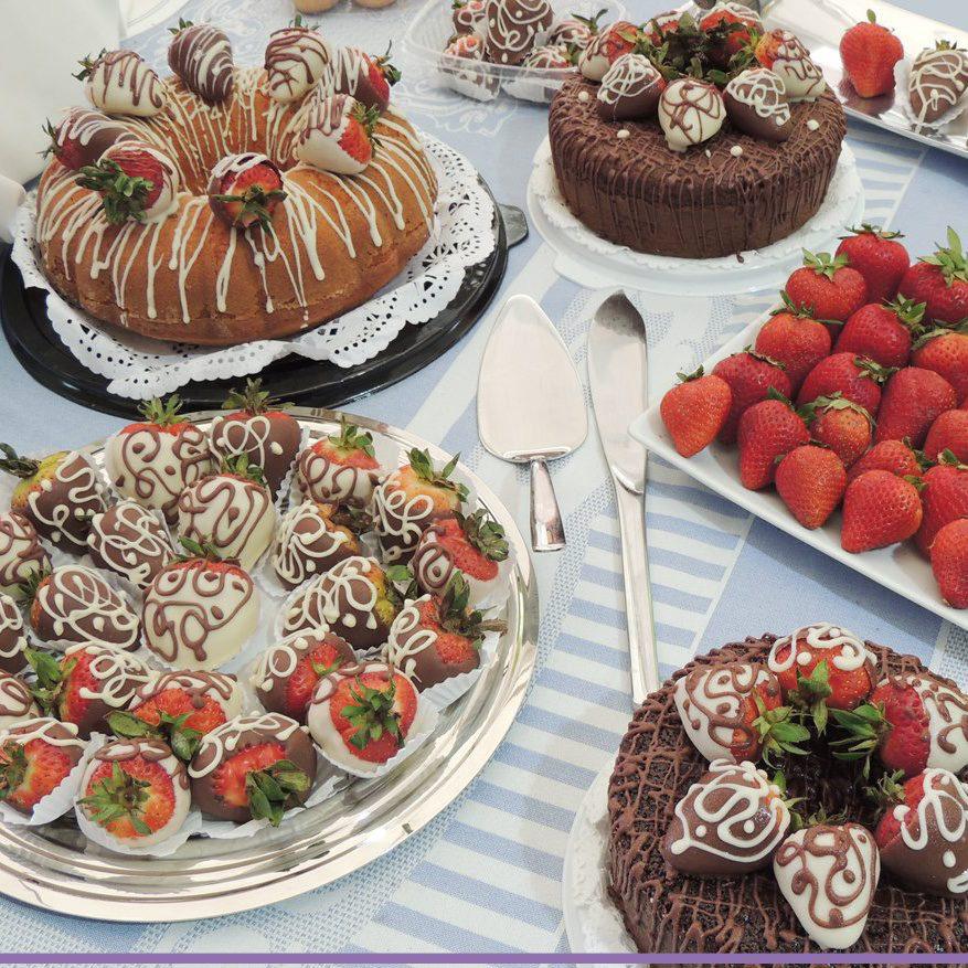 Blinis, postres y fresas