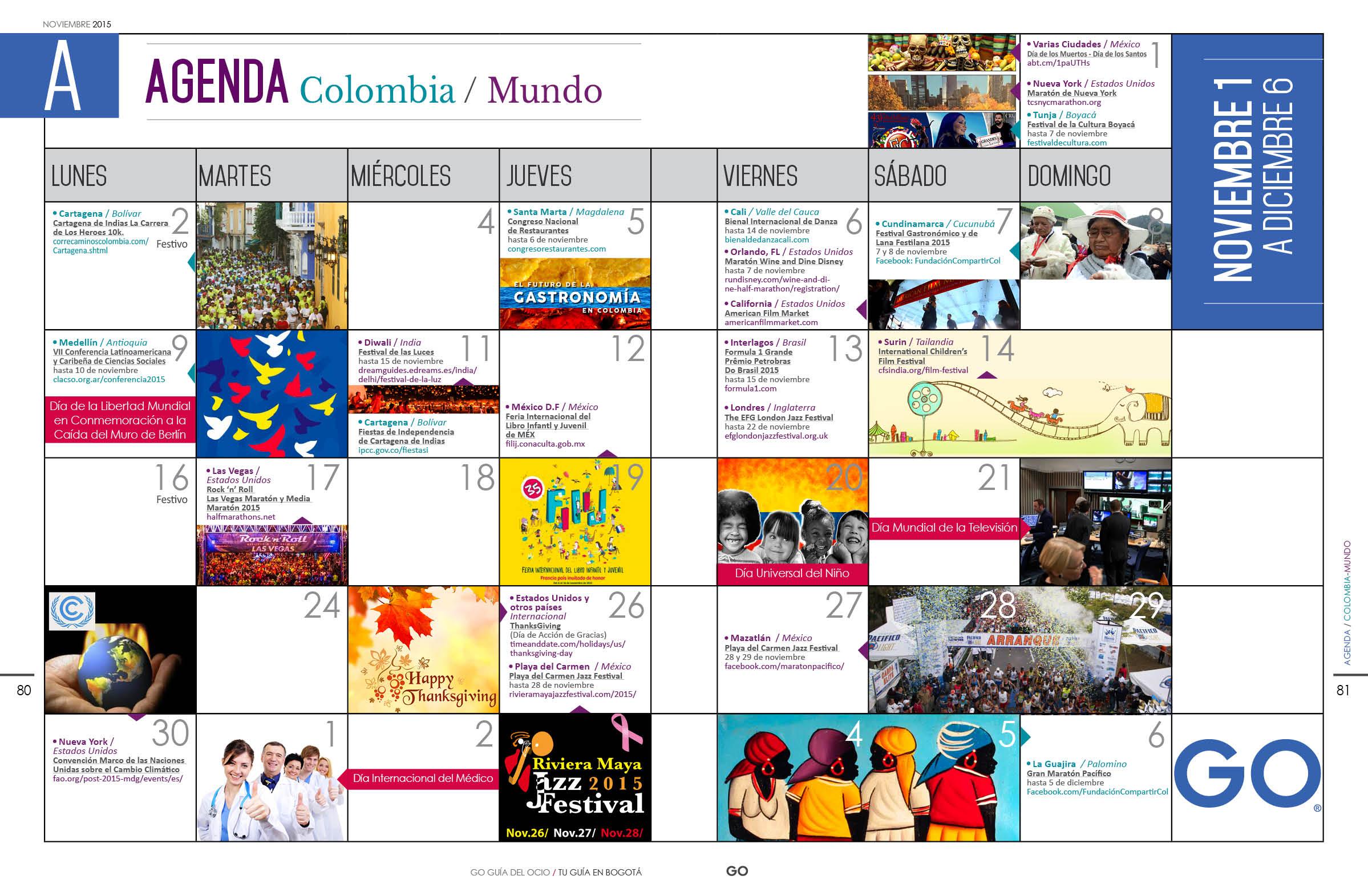 Agenda Colombia Mundo Noviembre 2015