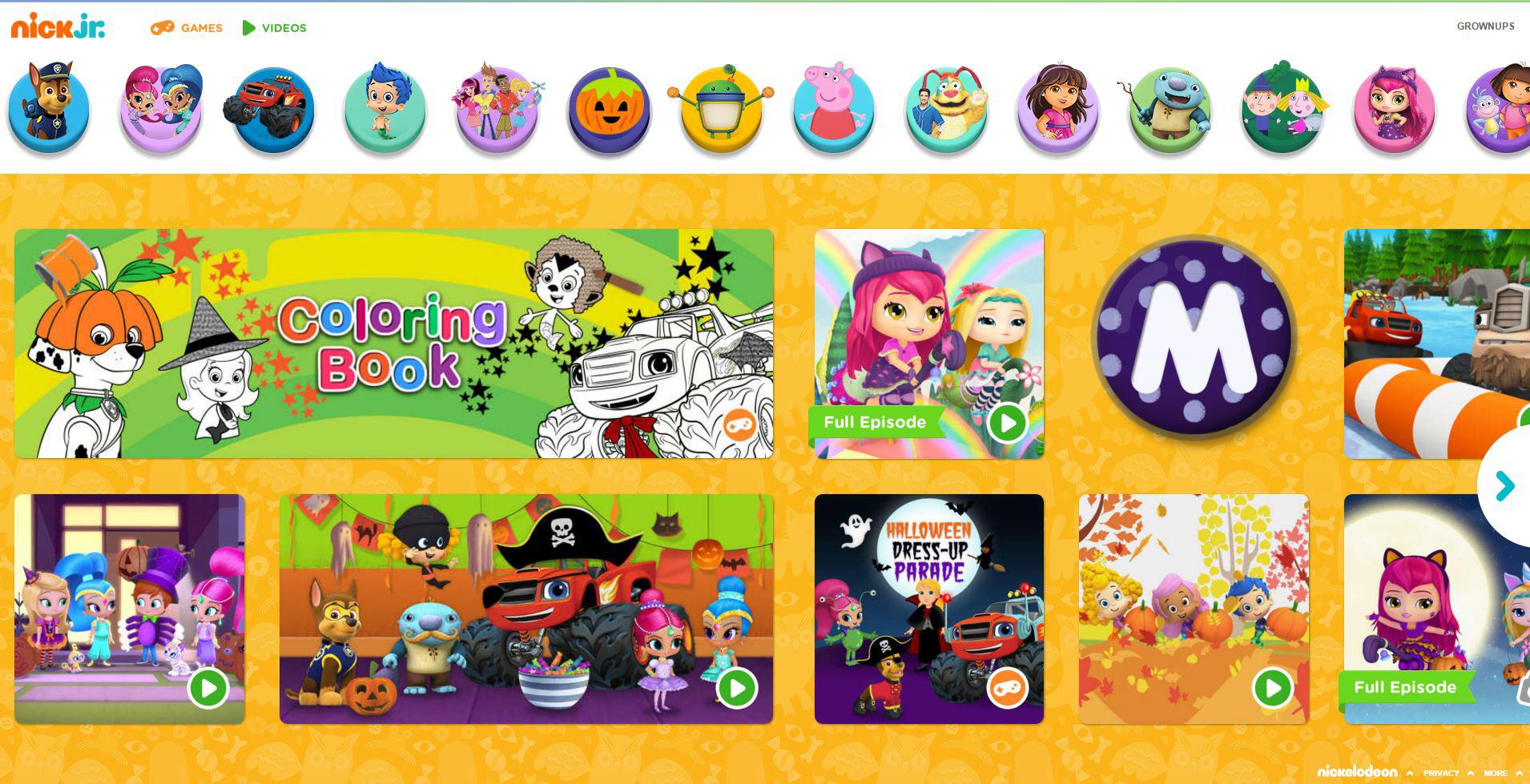 Atractivo Nick Jr Para Colorear Gratis Imagen - Dibujos Para ...