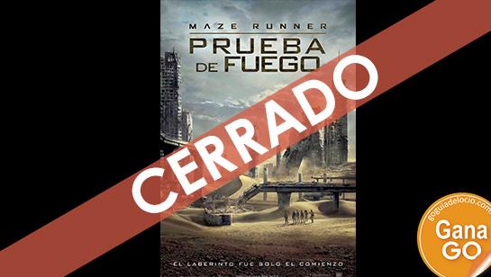 """Gana el libro """"Prueba de fuego"""" de la saga Maze Runner"""