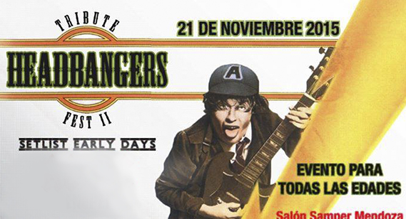 Tributo	'Early days' a	AC/DC, Iron	Maiden,	Megadeth y Metallica