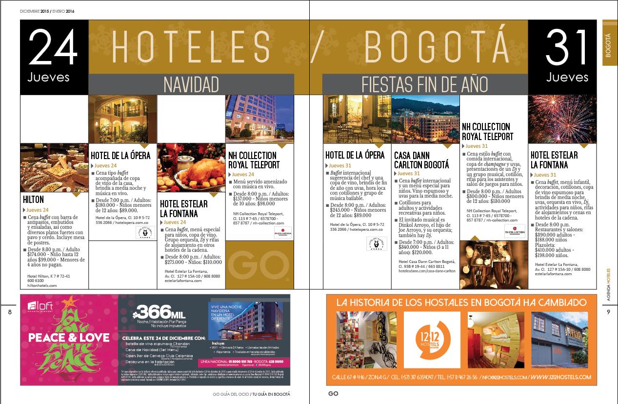 special Hoteles de Colombia en Navidad y Fin de Año