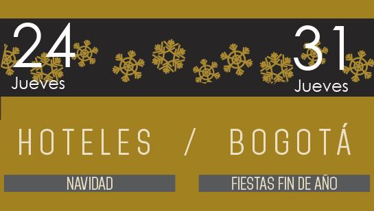 Especial de Navidad y Fin de Año en los hoteles de Bogotá