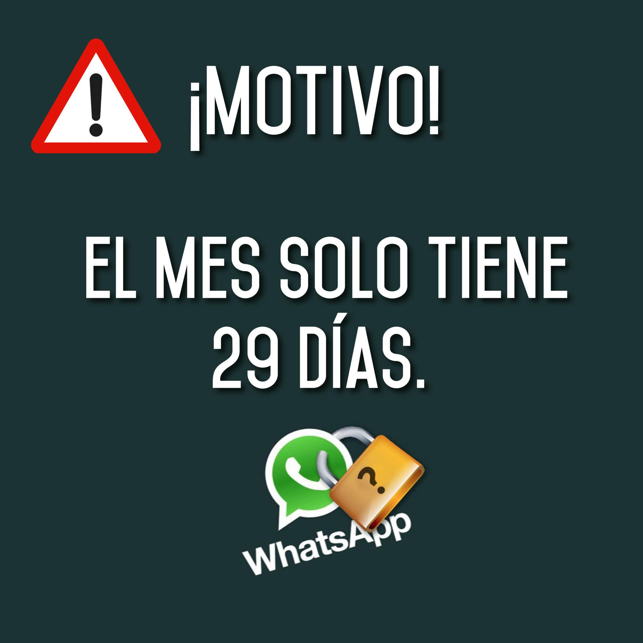 WhatsApp NO funcionará dos días del mes de FEBRERO