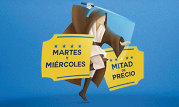 MARTES A MITAD DE PRECIO – CINE COLOMBIA