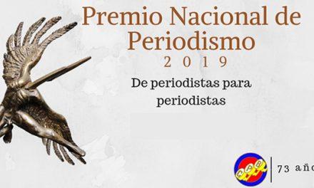 CONVOCATORIA PREMIO NACIONAL DE PERIODISMO CPB 2019